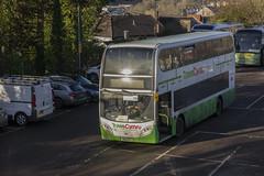 Rail replacement bus at Bridgend