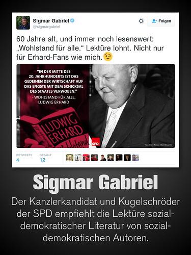 Sigmar Gabriels Literaturempfehlungen