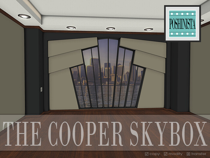 Poshinista - The Cooper Skybox AD - SecondLifeHub.com