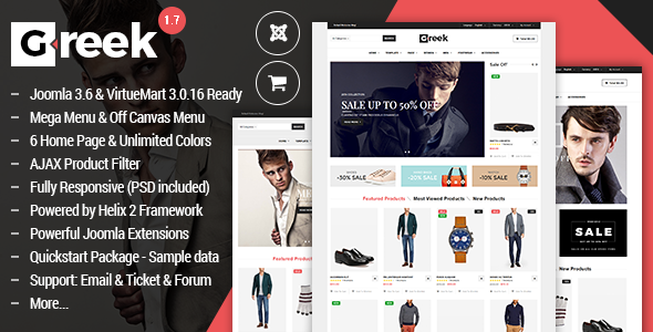 Vina Greek v1.7 - Fashion Joomla & VirtueMart 3 Template