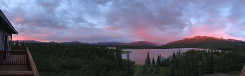 Sunset past midnight. The northern most and late-est and probably pinkest sunset we've ever seen