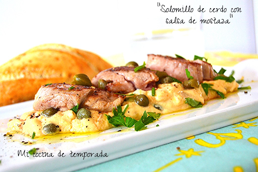 Solomillo en salsa de mostaza light