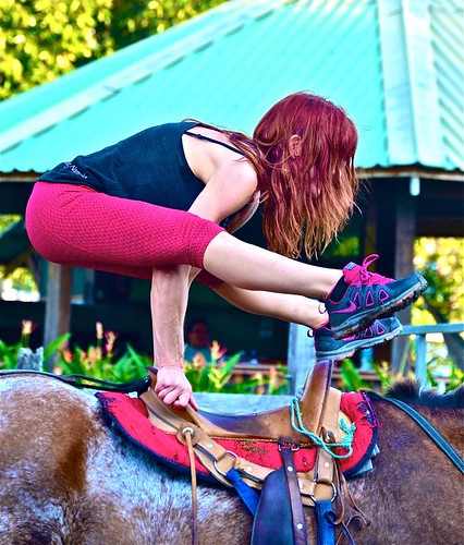 How To Practice Yoga Anywhere You Go On A Horse