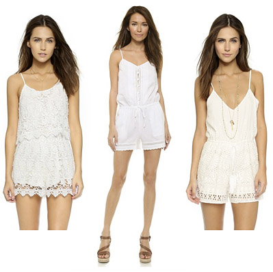 Shopbop White Rompers