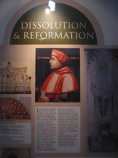 Cardinal Wolsey exposed - St. Albans Cathedral, UK