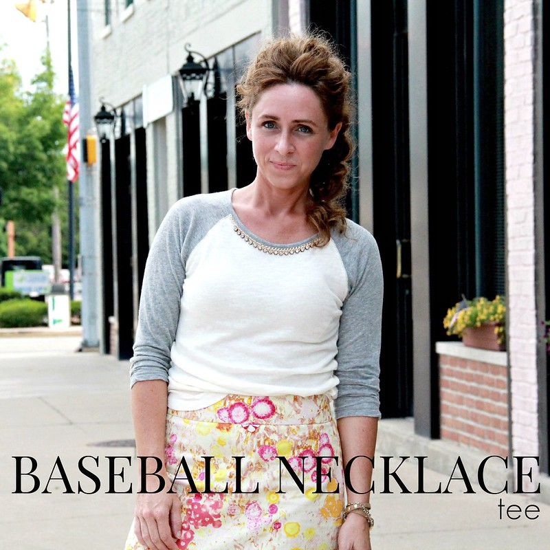 how to make a diy baseball necklace tee