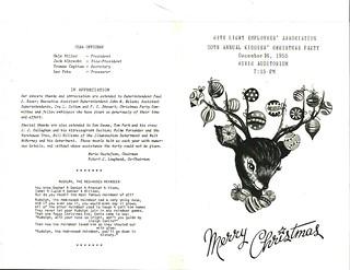 City Light Christmas party program, 1955