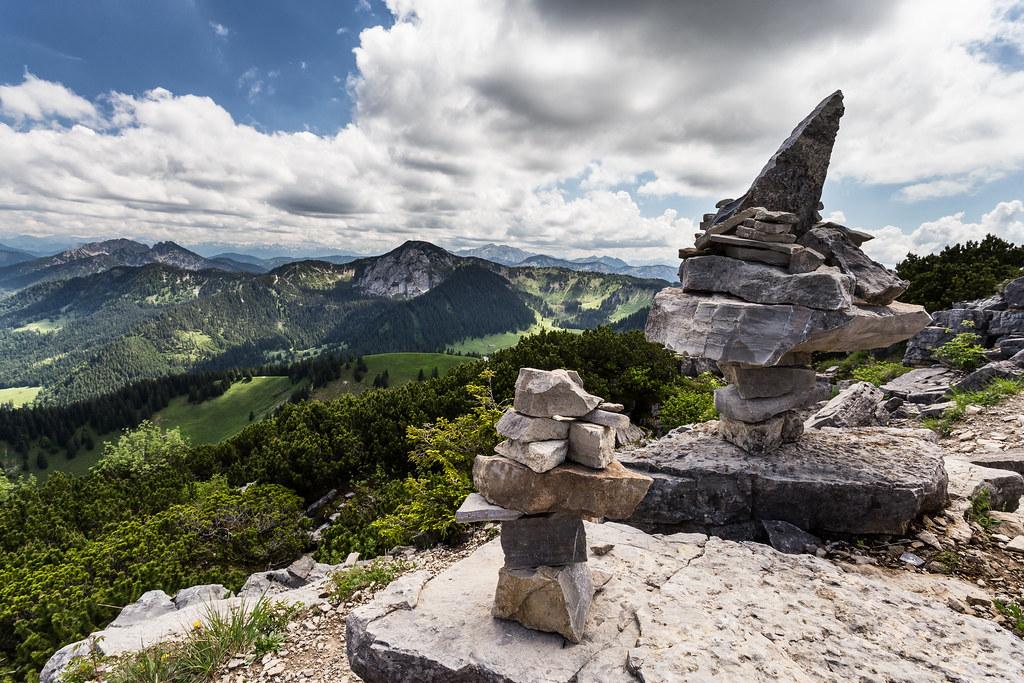 Bavarian alps: view on Risserkogel, from Wallberg