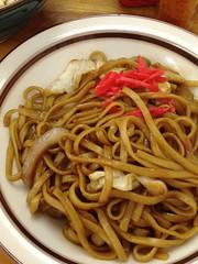 mie goreng(0.0), bakmi(0.0), bucatini(0.0), spaghetti(0.0), spaghetti aglio e olio(0.0), produce(0.0), pici(0.0), yakisoba(0.0), chinese noodles(0.0), yaki udon(0.0), noodle(1.0), fried noodles(1.0), lo mein(1.0), hokkien mee(1.0), naporitan(1.0), food(1.0), dish(1.0), cuisine(1.0), chow mein(1.0), udon(1.0),
