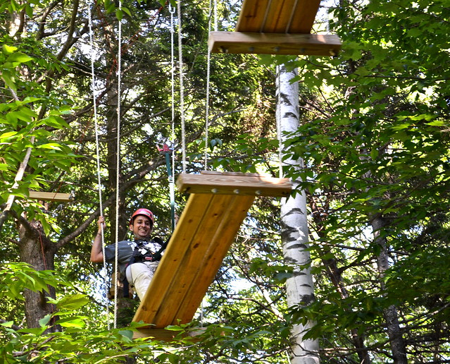 advanced obstacle course 3 - Arbor Trek Smugglers Notch, Vermont