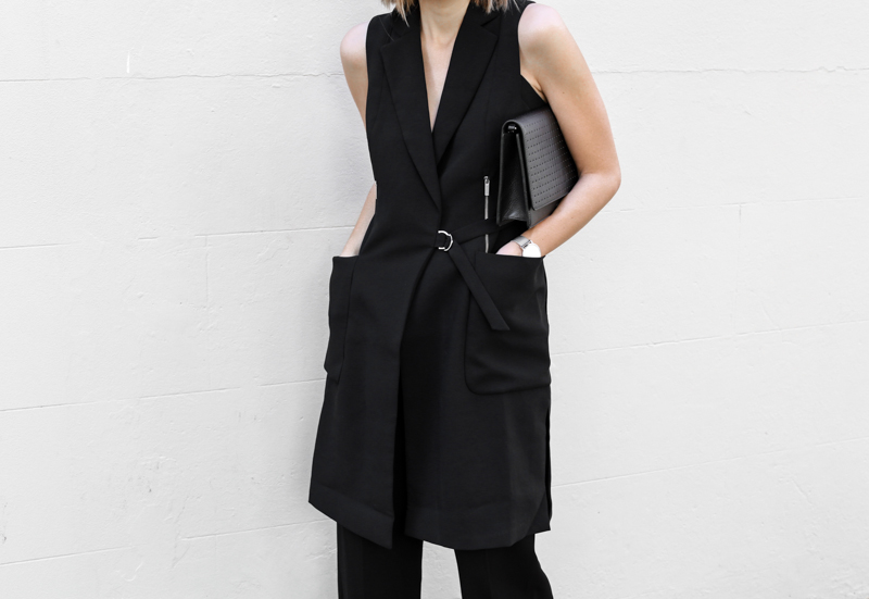 modern legacy, fashion blog, all black street style, work wear inspo, Karen Millen, Anine Bing bag (1 of 1)