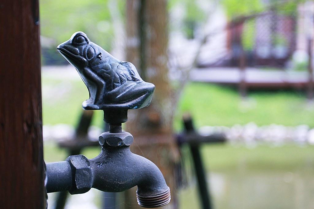 很可愛的青蛙水龍頭啊
