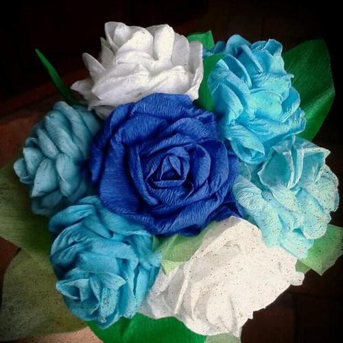 Un mazzo di #rose speciale! Benvenuto a casa Francesco! #amoredizia #babayboy #handmade #morgana209 #creativitá #creativitáagogo