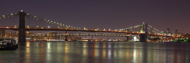 Brooklyn, Manhattan and Williamsburg Bridges