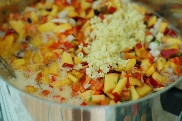Nectarine chutney by Eve Fox, the Garden of Eating, copyright 2015