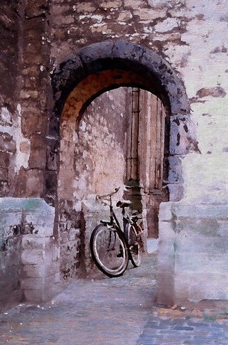 Bicycle by a Cathedral