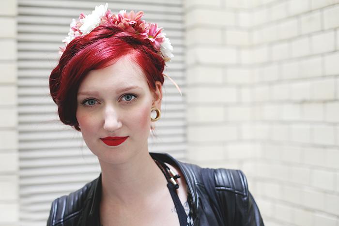 Blumenkranz für eine Bloggerin