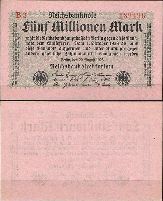 5 Miliónov Mariek Nemecko 1923, Pick 105