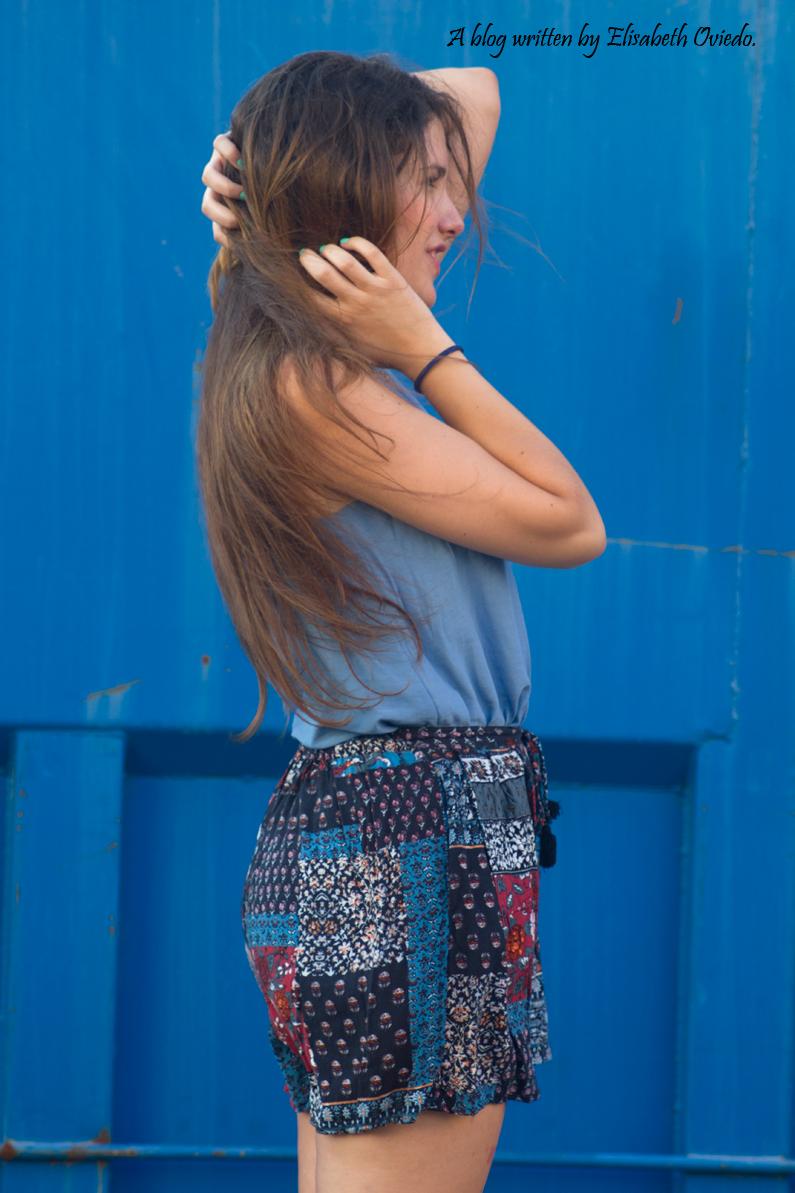 falda azul STRADIVARIUS HEELSANDROSES (7)