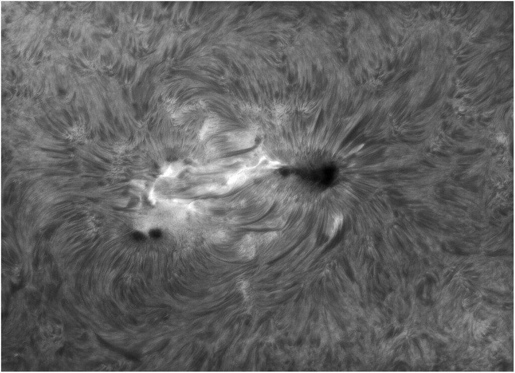 080815_093711 Sunspot group in the Sun's chromosphere