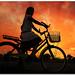 Girl at dusk riding homewards! by FotographyKS!