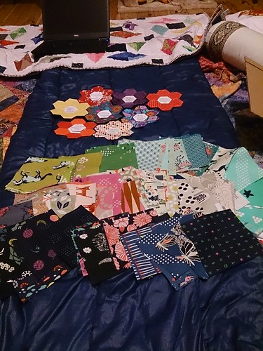 WIP Wednesday: scraps, charms, and cats.