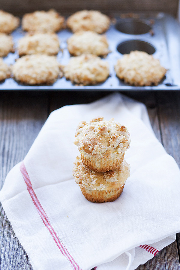apple streusel coffee cake muffins