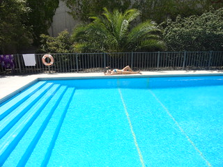 Con mucho calor en Buenos Aires
