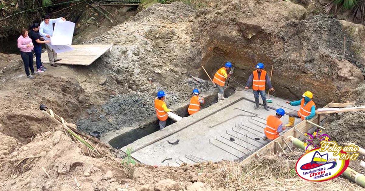 Continúan trabajos para la dotación del sistema de agua potable de Chibunga