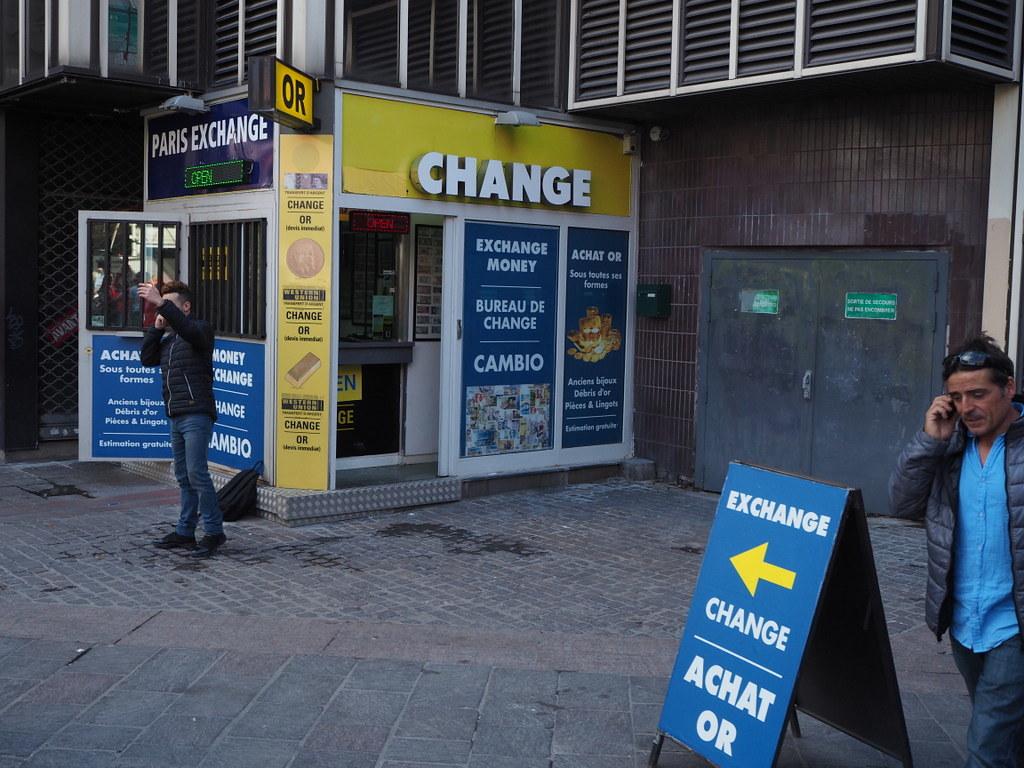 Money exchange location in paris bureau de change à pariu flickr