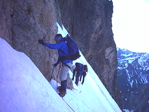 Steep ice from Cabane de l'A Neuve Hut