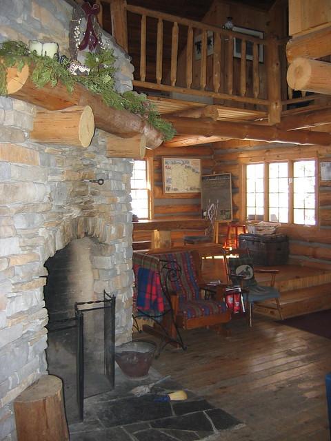 Algonquin Log Cabin Fireplace Flickr Photo Sharing