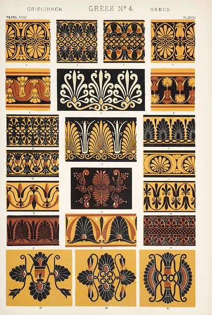 """Image Plate from Owen Jones' 1853 classic, """"The Grammar of Ornament""""."""