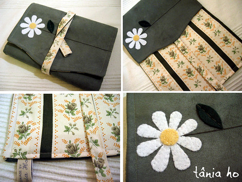 #178 bookcover, green with daisy