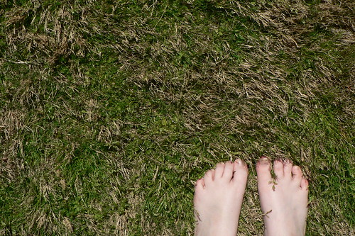 My feet, my yard