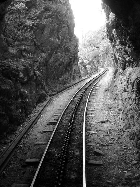 black and white train tracks | Flickr - Photo Sharing!