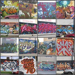 Graffiti mosaic