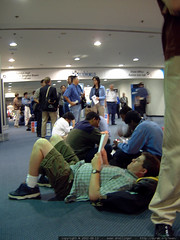 long line for the keynote speaker   dscf2293