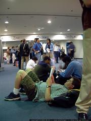 long line for the keynote speaker   dscf2293