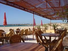 Beach cafe.