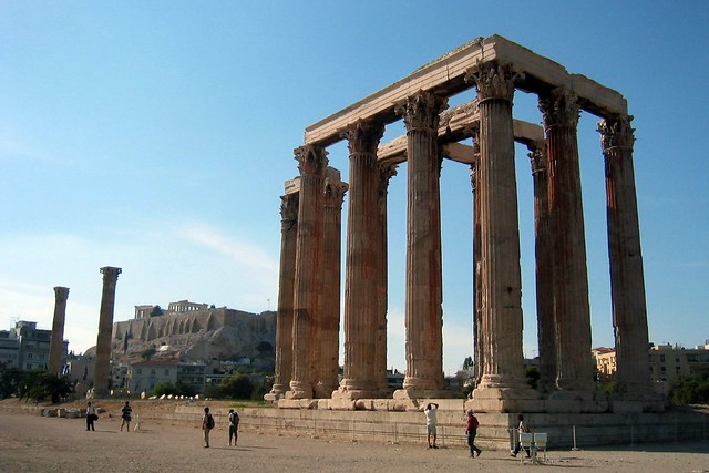 Athens: Temple of Olympian Zeus  Flickr - Photo Sharing!