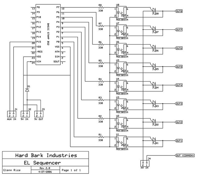el sequencer schematic -- final version