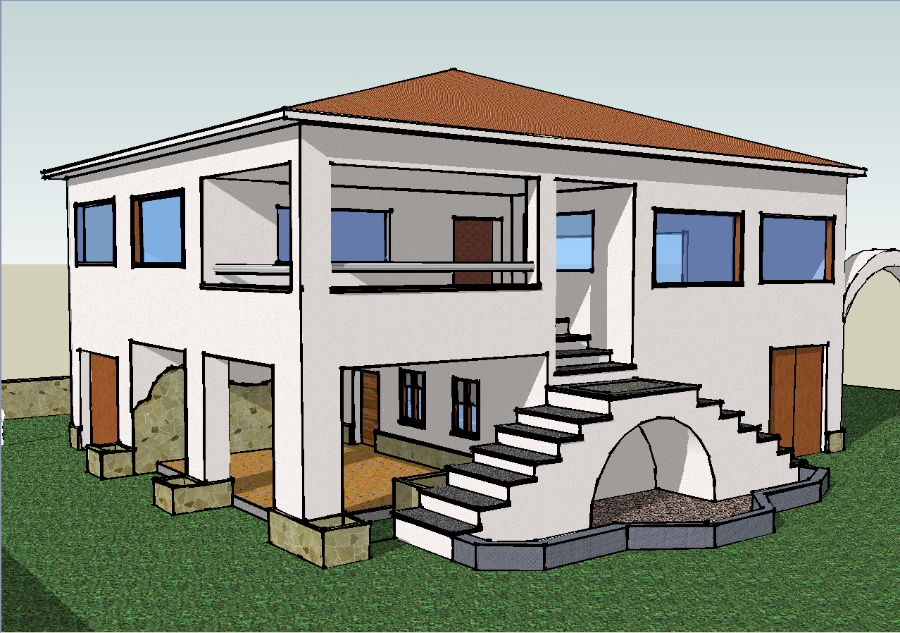 A house made with sketchup flickr photo sharing for Google house builder