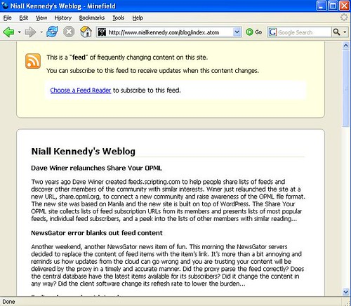 Firefox 2.0 feed preview