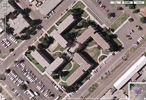 Google Map of Swastika-Shaped Building