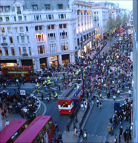 hippies take over oxford circus