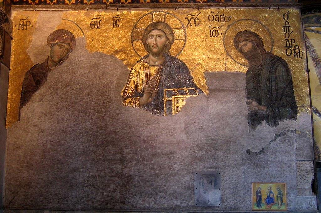 Deesis Mosaic in Hagia Sofia