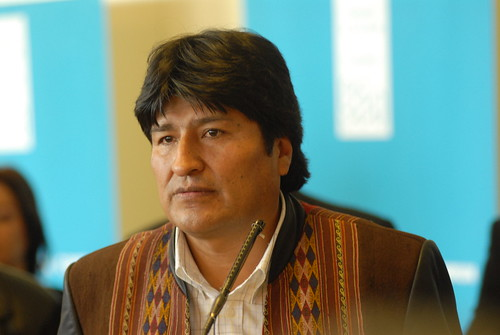 Evo Morales, President of Bolivia. (Photo: Alain Bachellier, in Flickr)