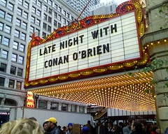 Chicago Theatre Marquee - Conan in Chicago
