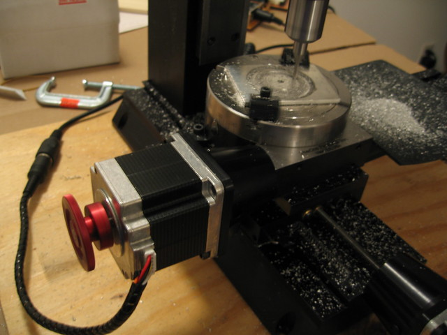 Sherline mini mill cnc rotary table flickr photo sharing for Cnc rotary table with stepper motor